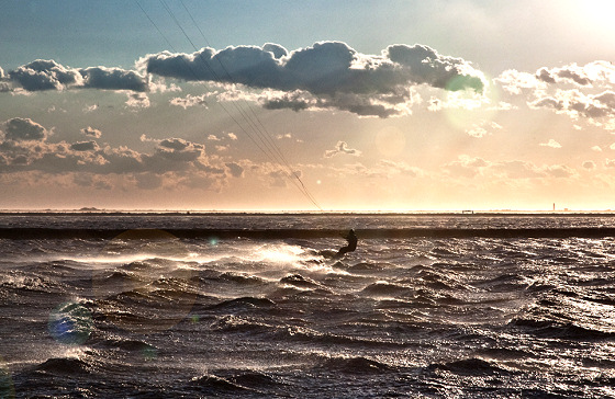 Salin-de-Giraud: Mistral wind doing its job