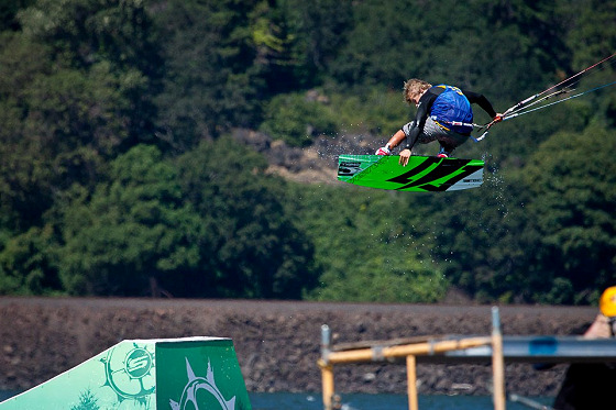Sam Light: he destroyed all rails and kickers available in Hood River