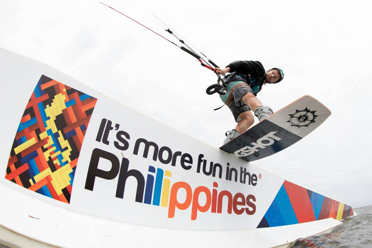 Sam Light: winner of the Solaire Blue Palawan Kiteboard Open 2017 | Photo: Bromwich/KPL