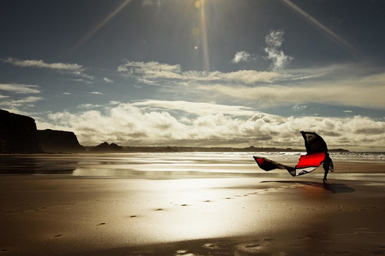 Sam Lutman-Pauc: kiteboarding in cold water Britain