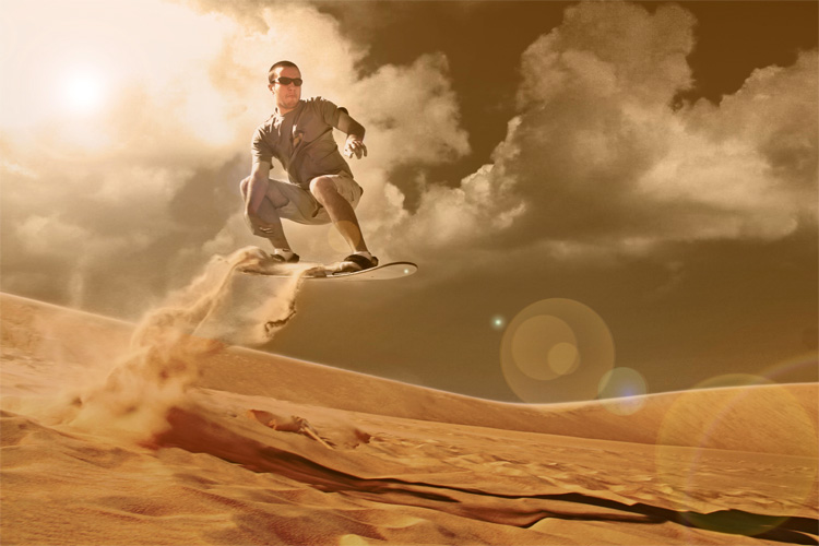 Sandboarding: the lost art of riding steep sand dunes