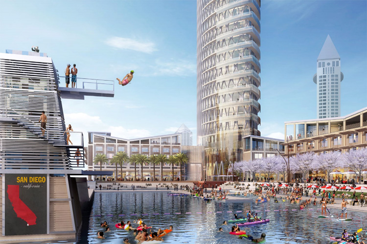 SeaPort: the project by McWhinney/DJM consortium features a surf pool | Photo: McWhinney/DJM
