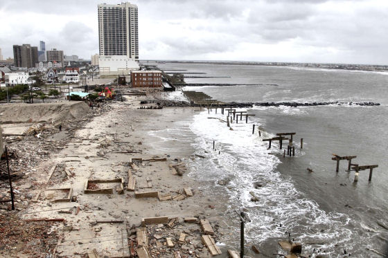 Atlantic City: destruction by Hurricane Sandy