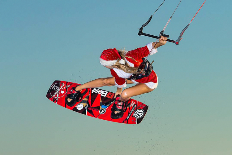 Hannah Whiteley: kiteboarding's Mother Christmas