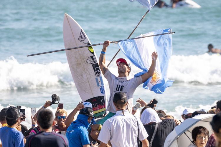 Santiago Muñiz: the 2018 ISA World Surfing Games gold medalist | Photo: Reed/ISA