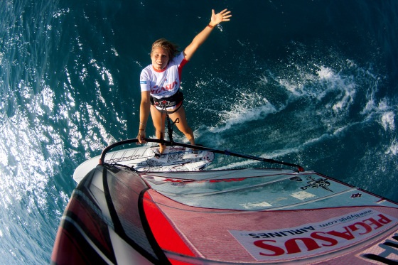 Sarah Hebert: the Atlantic Ocean windsurfing master