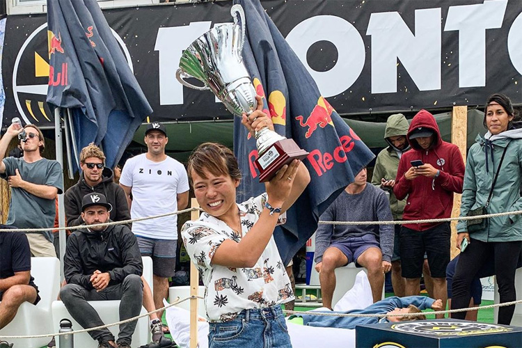 Sari Ohhara: the second Japanese bodyboarder to win the APB World Tour title | Photo: APB