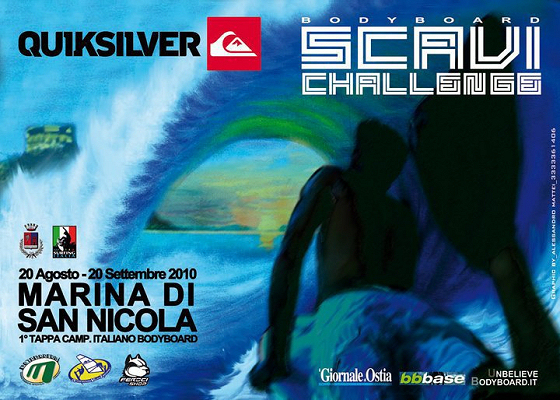 2010 Quiksilver Scavi Bodyboard Challenge: they might find ancient fins and body boards