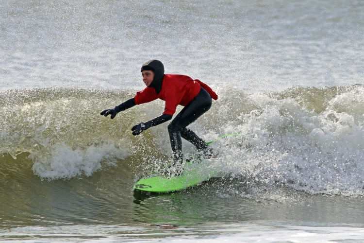 Seamus Carey: freezing for a cause | Photo: Jim Givas