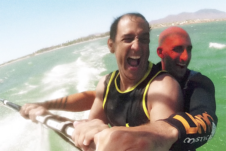 Guillermo Sfiligoy and Diony Guadagnino: windsurfing partners for life