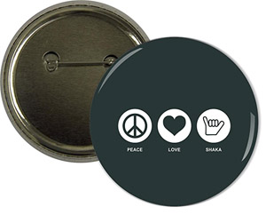 Peace, Love, Saka Button Badge
