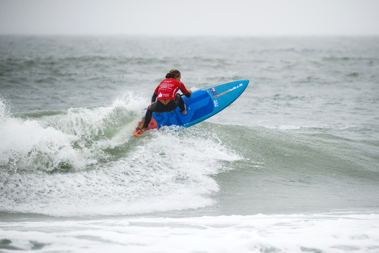 Shakira Westdorp: she won the Women's SUP Surfing division | Photo: Reed/ISA