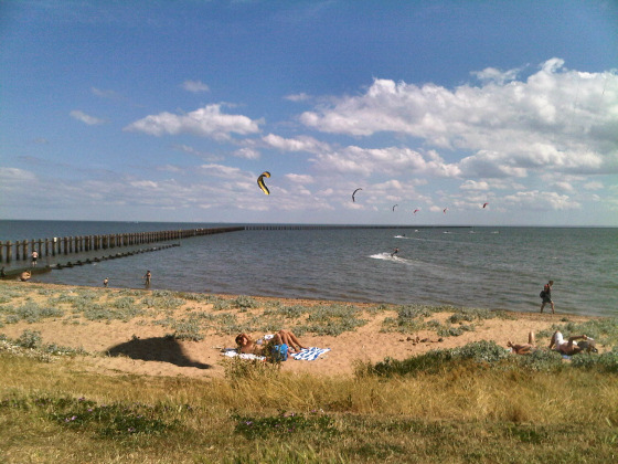 Shoeburyness: you can kite to London from here |Photo: Ro
