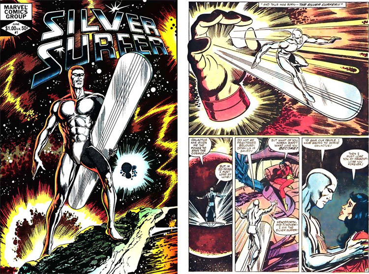 Silver Surfer: the first issue of the comic book was released in 1982