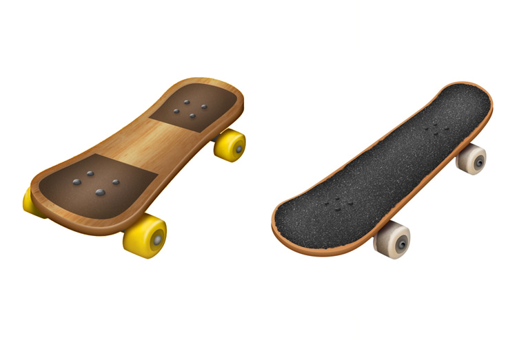 Skateboard emoji: the first version only lasted 12 days