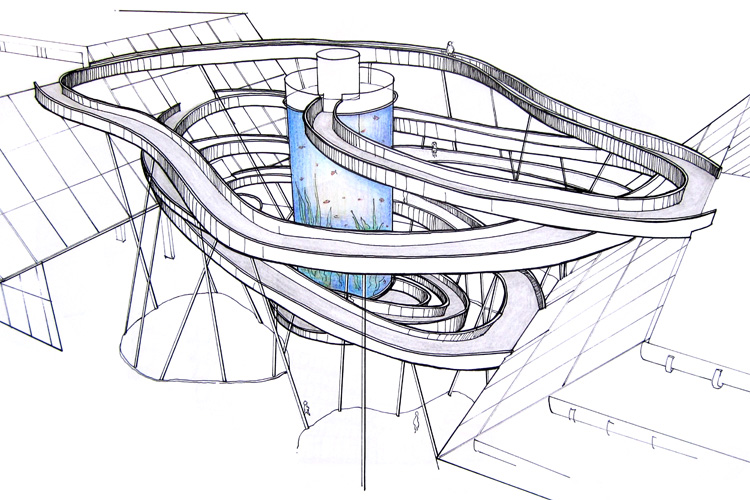 the spiral ramp sketch by tony hawk and kelly slater prepare for some rad acid