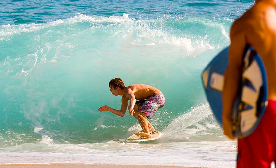Skimboarding: skimming takes boardsports to another level
