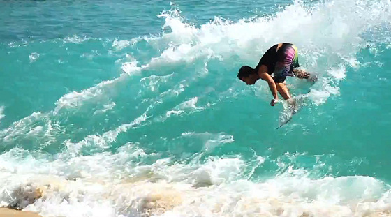 Hawaii Amateur Skimboarding League 2012: skimming is popular in Hawaii