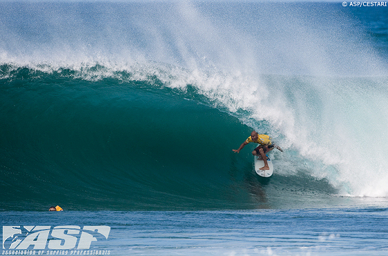 Kelly Slater: in his favourite place