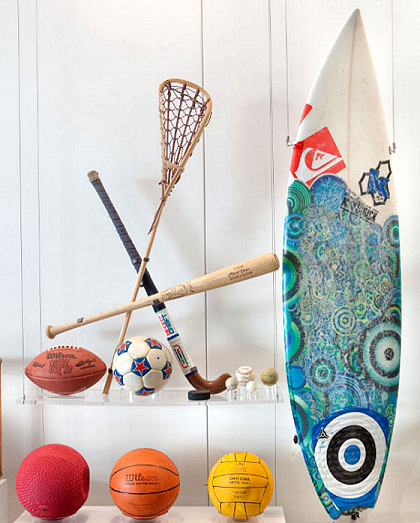 Smithsonian National Museum of American History: Slater's surfboard is now showcased among more traditional sports equipment