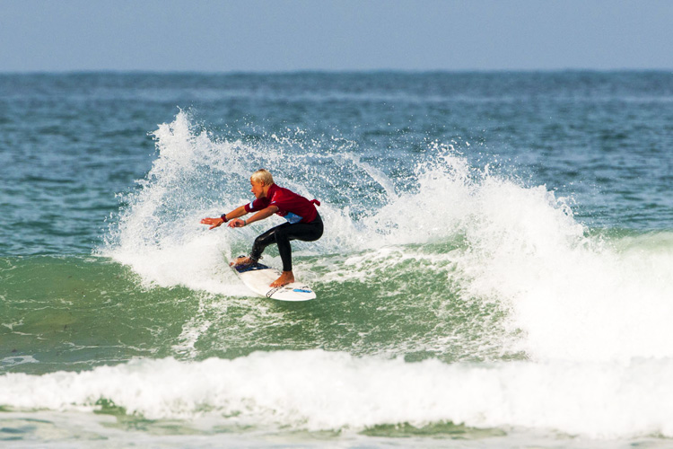 Sol Hawkins: he helped the Newquay Boardriders win the Interclub Surf Championships | Photo: Surfing GB