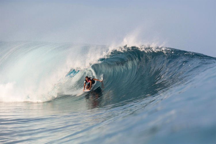 Soli Bailey: the first Australian to ever win the Volcom Pipe Pro | Photo: Saguibo/WSL