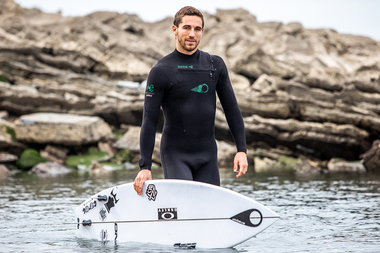 Soöruz Green Line: an oyster powder-based wetsuit | Photo: Soöruz