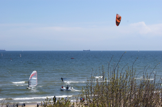 Sopot: where kitesurfers and windsurfers make peace