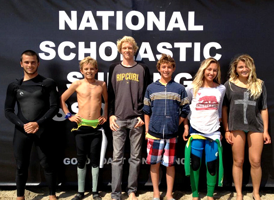 2012 NSSA Southwest Conference champions: smile, you're getting new surfboards