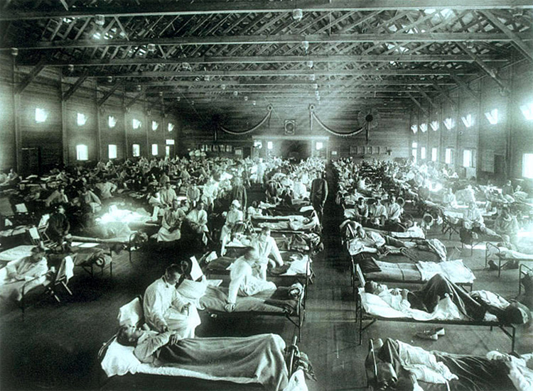 The Spanish Flu: the first pandemic caused by the H1N1 influenza virus contaminated around 500 million people | Photo: Creative Commons