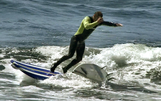 Zoltan Torkos: one surfboard is never enough for the surf wizard