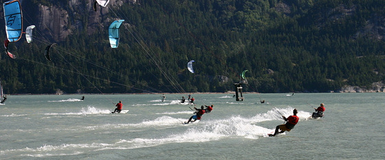 Squamish Kiteboard Racing Summer Series: beautiful venue