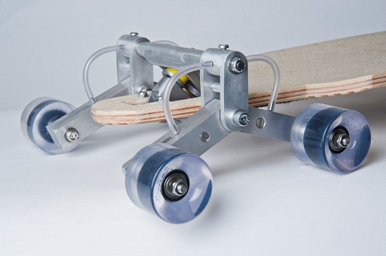 Stair Rover: a skateboard made for surfing stairs