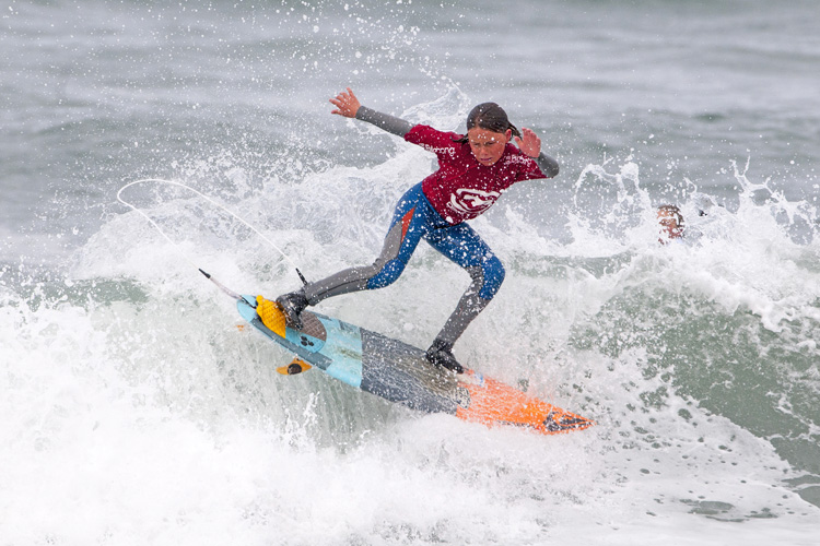 Stanley Norman: king of the Under 14 Boys | Photo: Surfing GB