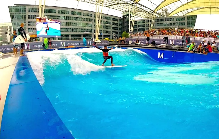 2014 European Championships in Stationary Wave Riding: Munich is a surfing paradise