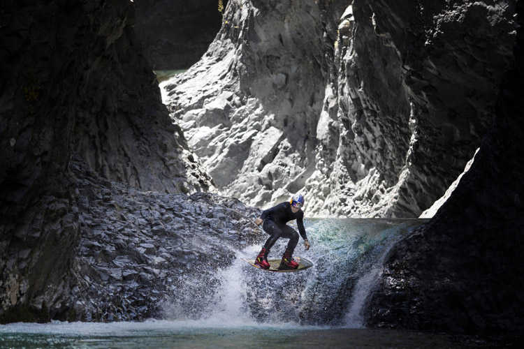 Steel Lafferty jumps off seven waterfalls in Chile