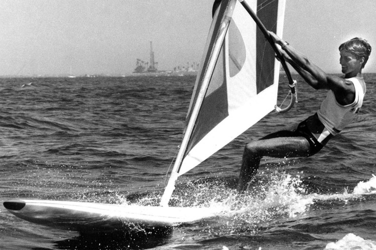 Stephan van den Berg: the first Olympic windsurfing gold medalist | Photo: ANP