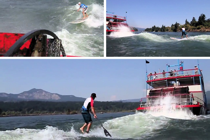 Sternwheel surfing: Dan Gavere has no problems with crowds