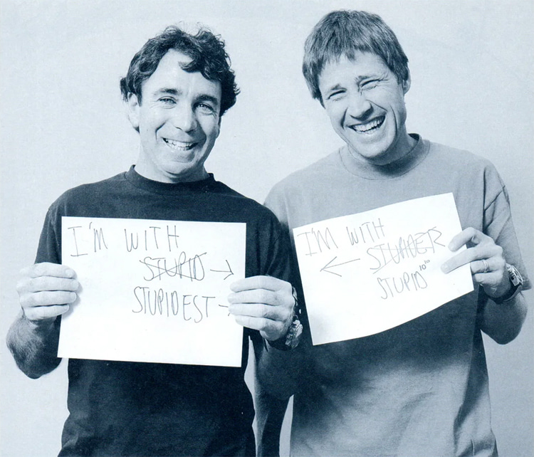 Steve Rocco and Rodney Mullen: the founded and the investor of World Industries   Photo: World Industries