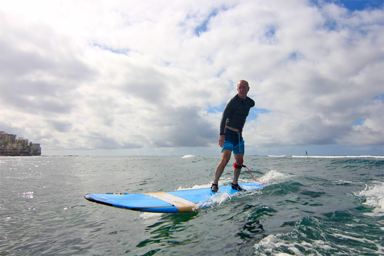 One-armed surfing: Steve Brown is as stoked as he ever was