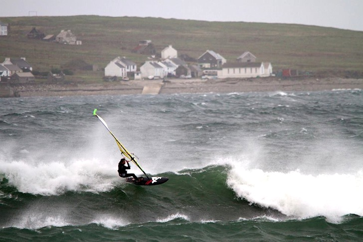 Steve Thorp: it looks cold in Ireland | Photo: Magheroarty Classic