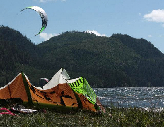 British Columbia: great kiteboarding arena
