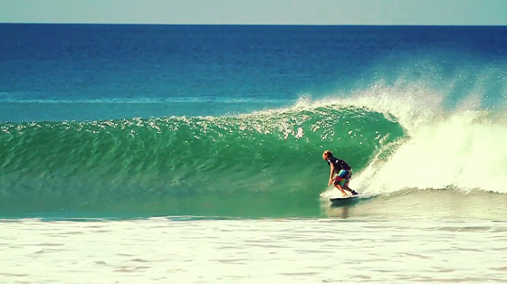 Alan Stokes: stoked to surf green water