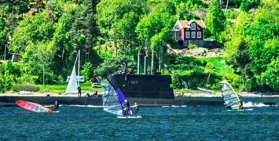 Norway Windsurfing Festival: submarines are not allowed in the race