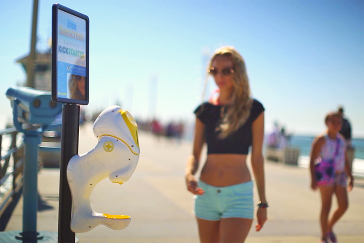 Sun Shield: a sunscreen dispenser for everyone | Photo: Sun Shield