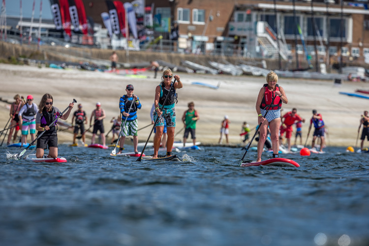 SUP Armada: 264 riders at Queen Mother Reservoir | Photo: SUP Armada