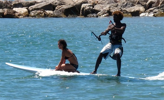 SUP Kiting: no excuses to leave your girl