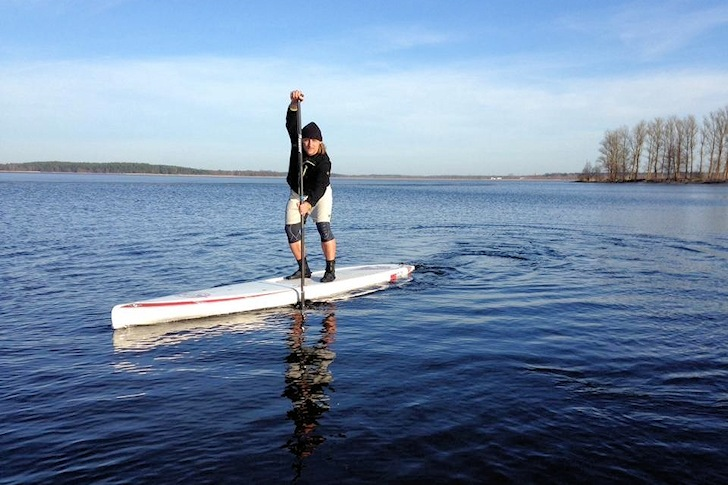 Latvia: exploring the lakes and rivers in a SUP