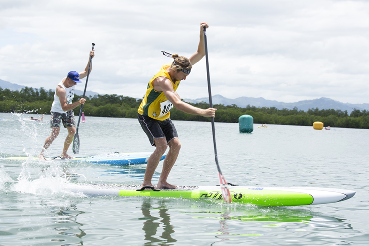 SUP Paddle Relay: a race involving four athletes per country | Photo: Reed/ISA