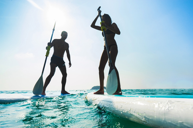 SUP Touring: paddle boards for cruising on flat water | Photo: Shutterstock